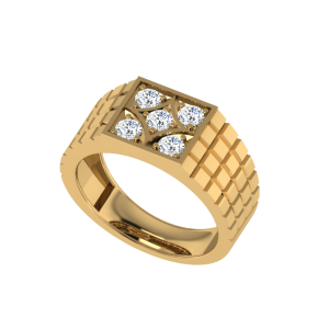 "The Sargon Men`s ""5"" Diamond Ring"