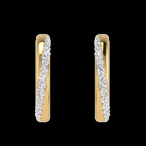 Go Forth & Dazzle Diamond Hoop Earrings