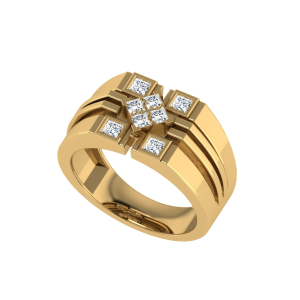 The Supreme Princess Cut Men`s Diamond Ring