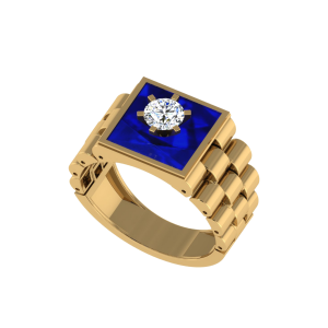 The Xerxes Men`s Diamond Ring W/ Enamel