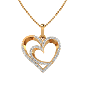 The Hearts Craze Diamond Pendant