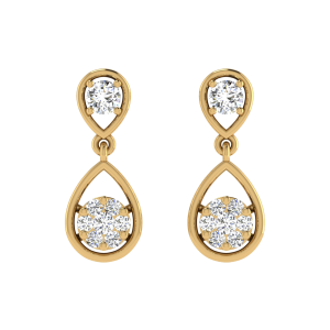 Elegance Noticed Diamond Drop Earrings