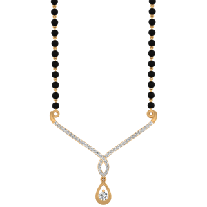 The Amazing Mangalsutra With Black Beads Gold Chain
