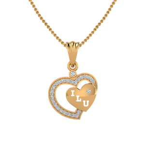 I Love You Diamond Pendant