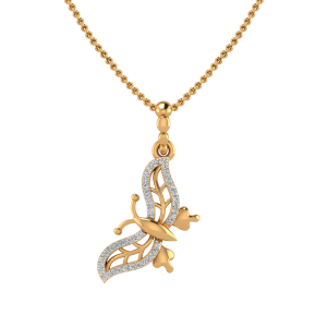 The Butterfly Rush Diamond Pendant