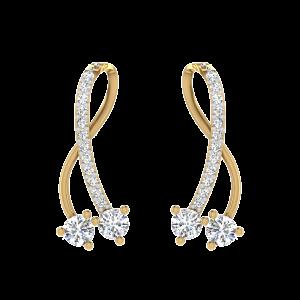 The American Rhythm Diamond Drop Earrings