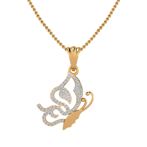 The Butterfly Posse Diamond Pendant