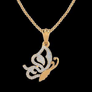 The Butterfly Posse Diamond Pendant
