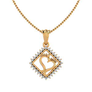 The Golden Feet Diamond Pendant