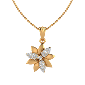 The Laughing Lily Diamond Pendant