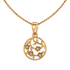 The Floral Roundabout Diamond Pendant