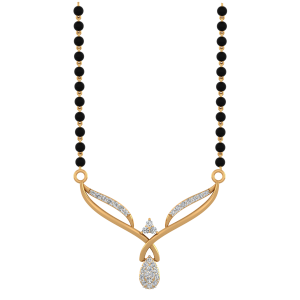The Stunning Mangalsutra With Black Beads Gold Chain
