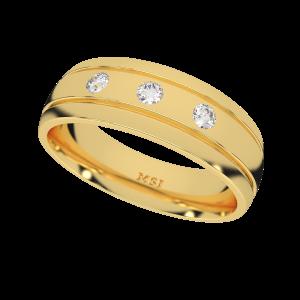 The Triple Alliance Couple Band Diamond Ring