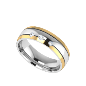 The Triple Alliance Couple Band Diamond Ring