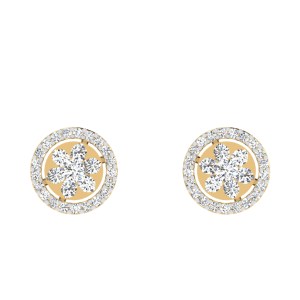 The Floral Fashion Diamond Stud Earrings