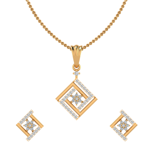 The Frame Star Diamond Pendant Set