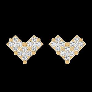 I Love We Diamond Stud Earrings