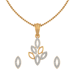 Magical Marquise Diamond Pendant Set