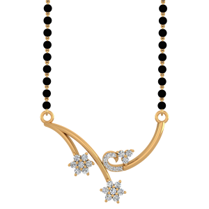 The Demure Mangalsutra With Black Beads Gold Chain