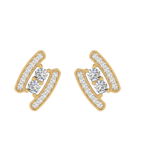 Fashion & Style Diamond Solitaire Stud Earrings