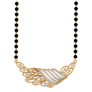 Pleasing Mangalsutra With Black Beads Gold Chain