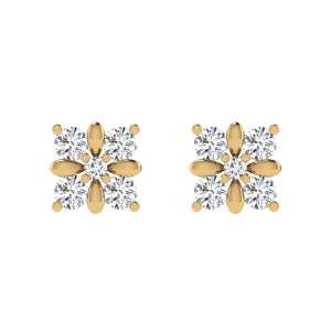 Classy Yet Fabulous Diamond Stud Earrings