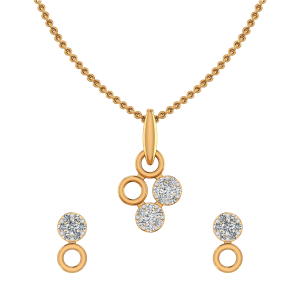 Casual Loops Diamond Pendant Set
