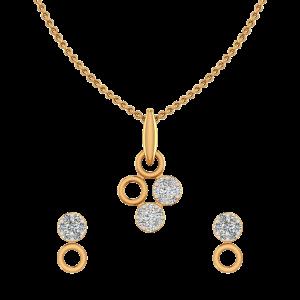Casual Loops Diamond Pendant Set