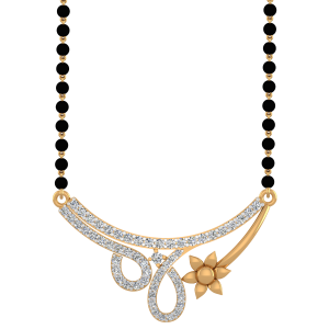 Beguiling Mangalsutra With Black Beads Gold Chain