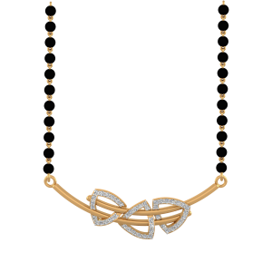 The Beauty Mangalsutra With Black Beads Gold Chain