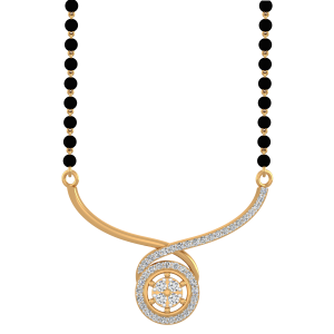 The Propitious Mangalsutra With Black Beads Gold Chain