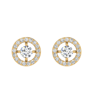 Flash Of Diamonds Solitaire Stud Earrings