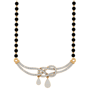 The Promise Mangalsutra With Black Beads Gold Chain