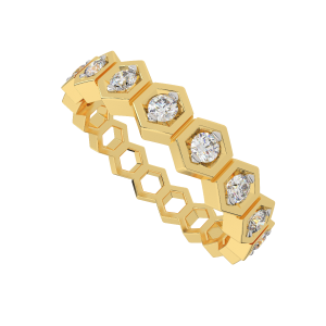 The Humming Hexagons Diamond Ring