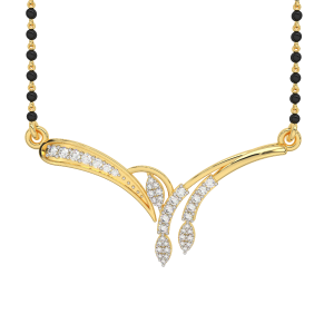 The Eye Catching Mangalsutra With Black Beads Gold Chain