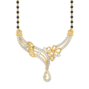 The Ethereal Mangalsutra With Black Beads Gold Chain