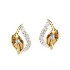 The Twin Flame Diamond Stud Earrings