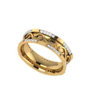 The Himalia Glint Diamond Anniversary Band