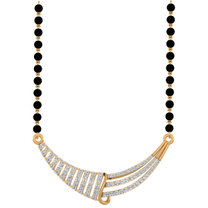 The Plethora Mangalsutra With Black Beads Gold Chain