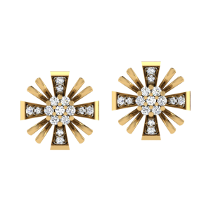 Blown & Bright Diamond Stud Earrings