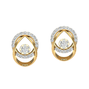 The Contemporary Strive Diamond Stud Earrings