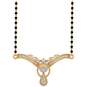 The Breathtaking Mangalsutra With Black Beads Gold Chain