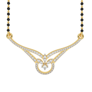 The Purity of Souls Mangalsutra With Black Beads Gold Chain