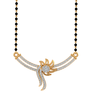 The Alluring Mangalsutra With Black Beads Gold Chain