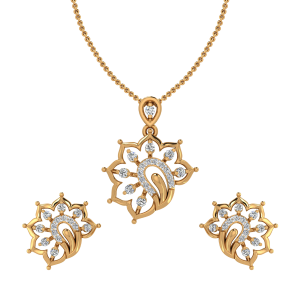 Elegant & Allure Diamond Pendant Set