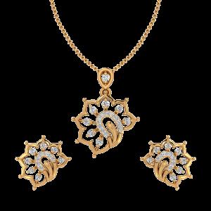 Elegant & Allure Diamond Pendant Set