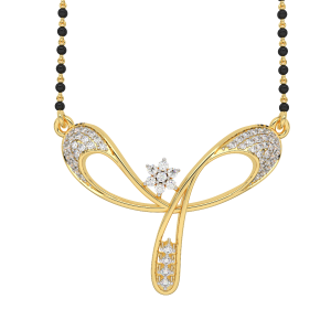 The Wonderful Mangalsutra With Black Beads Gold Chain