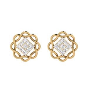 Enduring Lullaby Diamond Stud Earrings