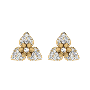 The Floral Echo Diamond Stud Earrings