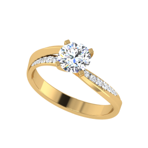 It Takes Courage Solitaire Diamond Ring